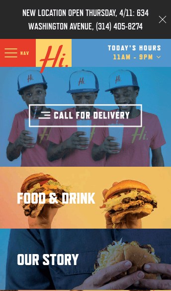Hi-Pointe Drive-In  Web Design
