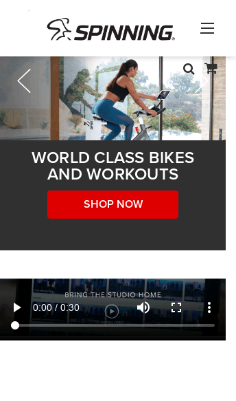 Spinner® Bikes  Web Design