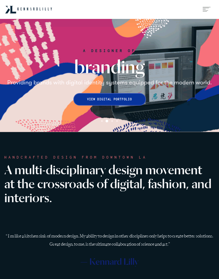 Kennard Lilly Design  Web Design