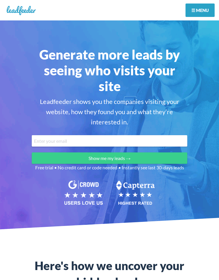 LeadFeeder  Web Design
