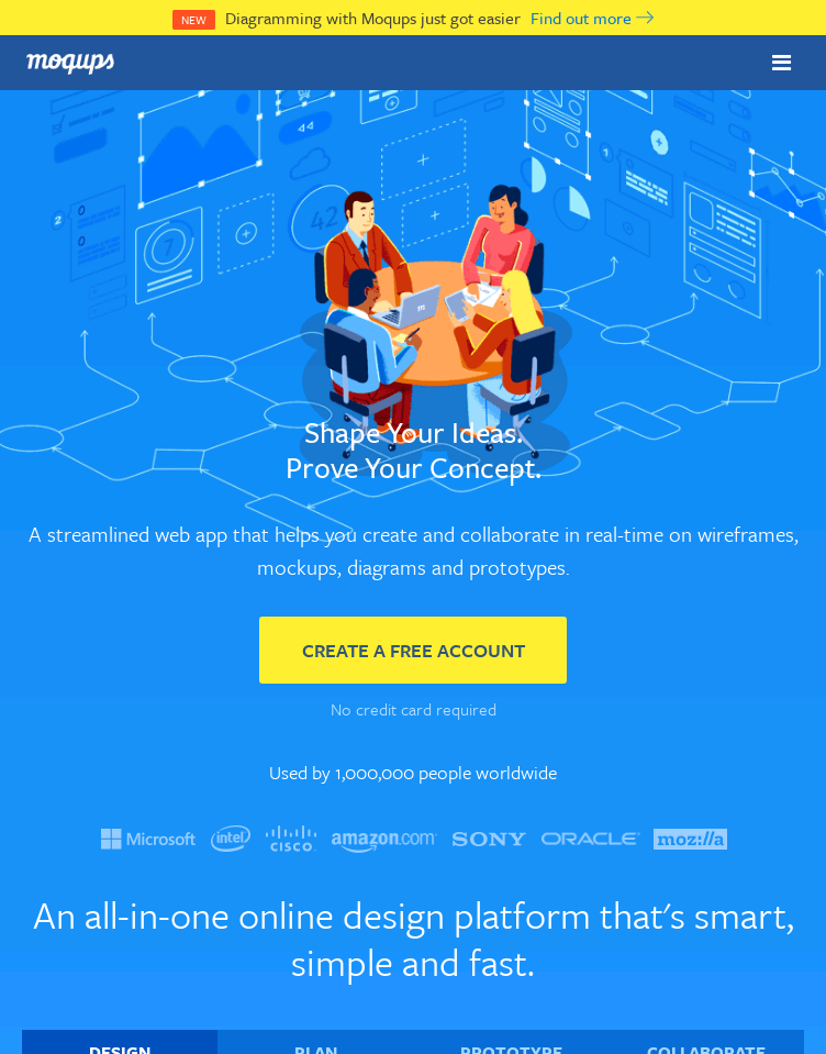 Moqups  Web Design