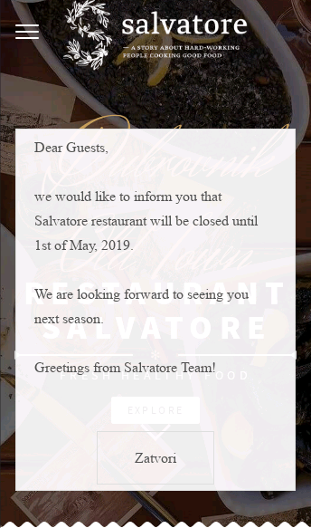 Salvatore Restaurant  Web Design