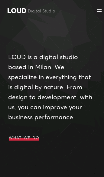 LOUD - Digital Studio based in Milan  Web Design