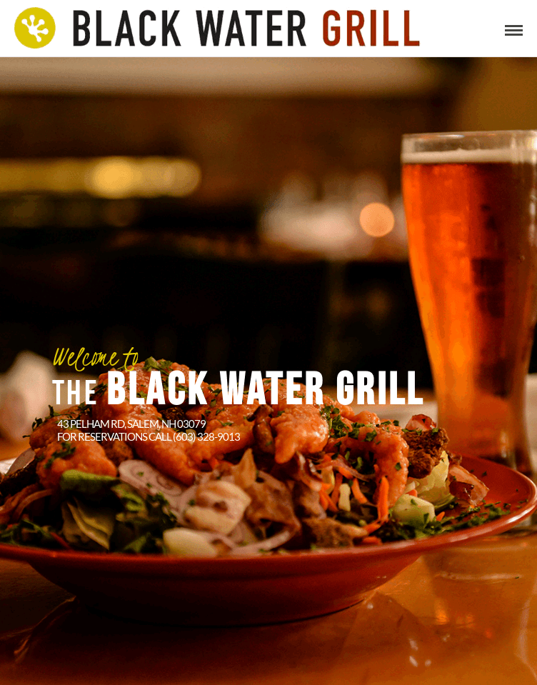 Black Water Grill website  Web Design