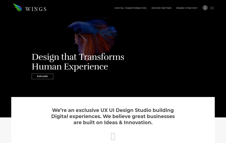 Wings Design Web Design