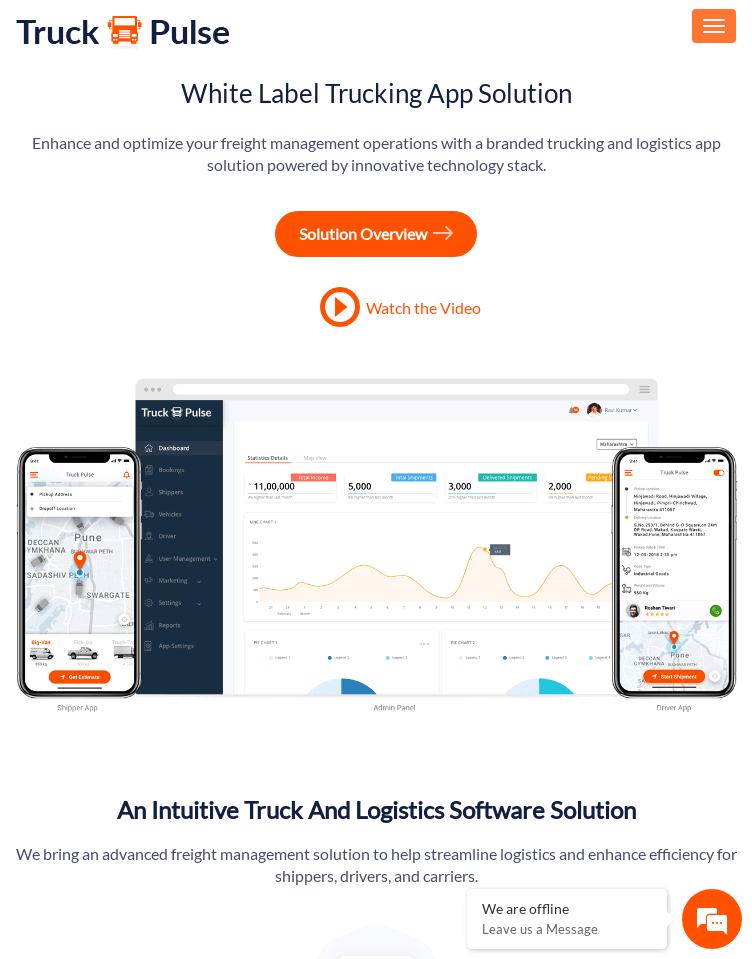 Truck Pulse  Web Design