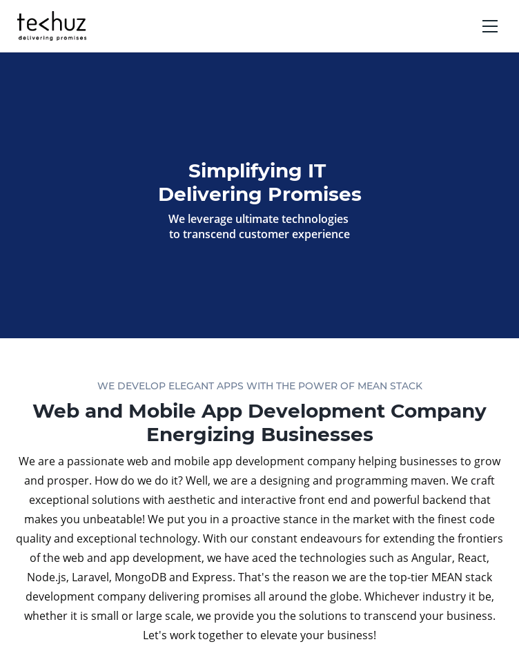 Techuz Mobile App Development  Web Design