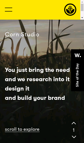 Corn Studio  Web Design