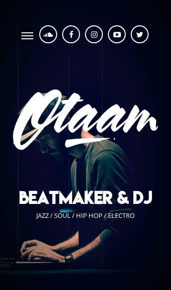 OTAAM - Beatmaker & DJ  Web Design