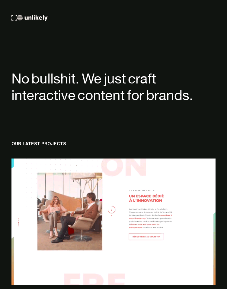 Unlikely Studio  Web Design