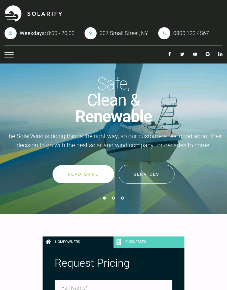 Solarify  Web Design