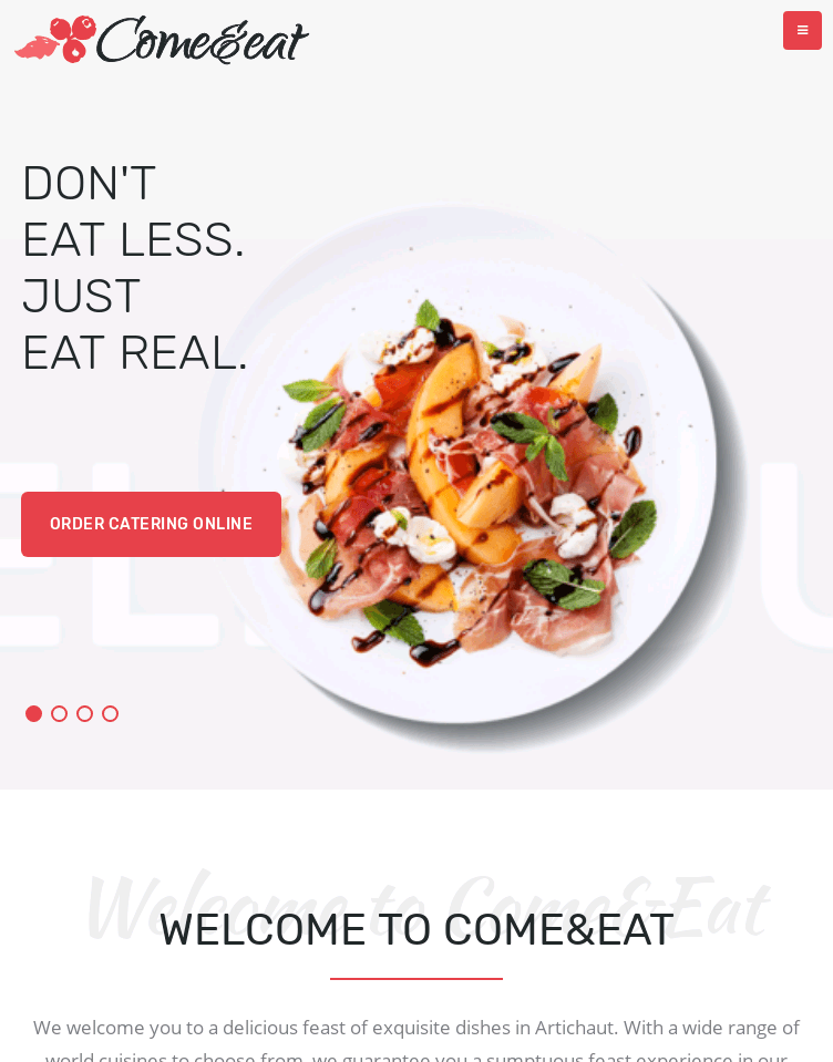 Come & eat  Web Design