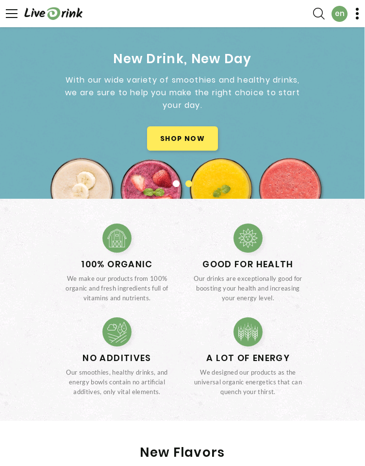 Live Drink  Web Design