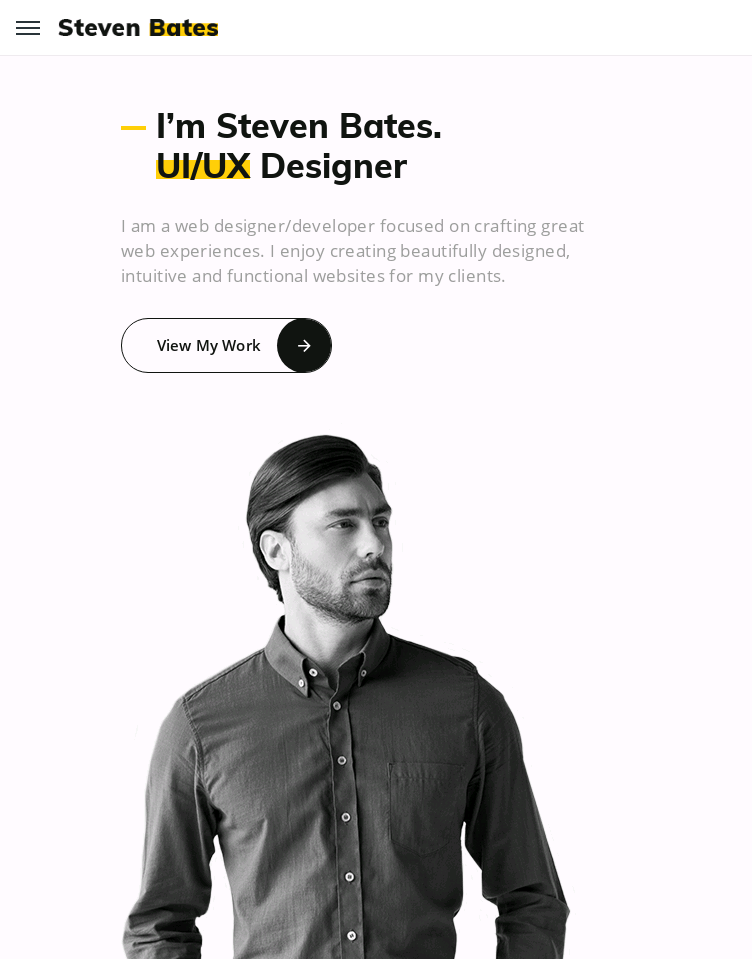 Buy Steven Bates Template  Web Design