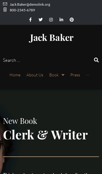 Wordpress Theme - Jack Baker  Web Design