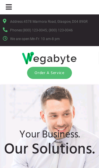 Wordpress Theme - WegaByte  Web Design