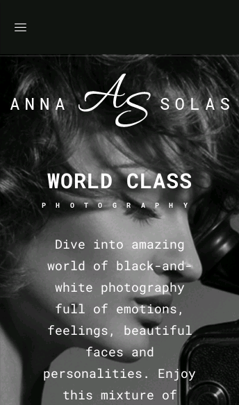Anna Solas Wordpress Theme  Web Design