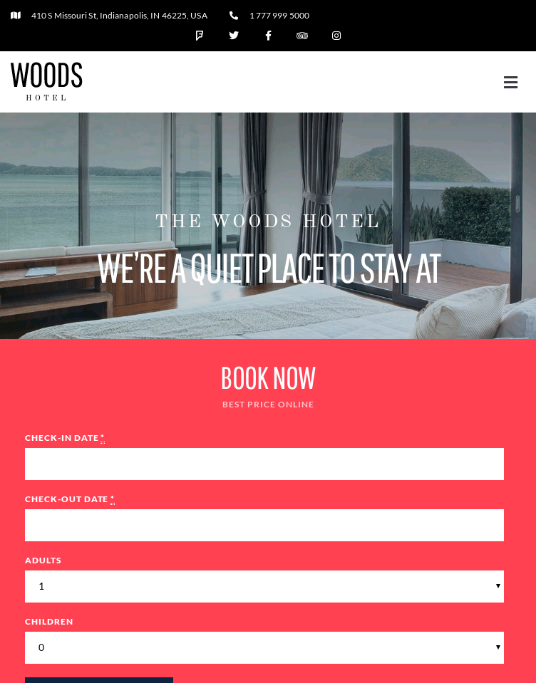 Woods Wordpress Theme  Web Design