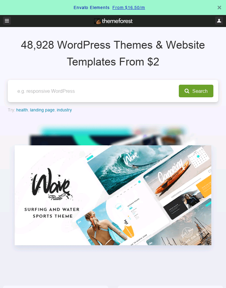 ThemeForest  Web Design