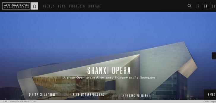 Arte charpentier architectes website has a great web for Architecture design sites