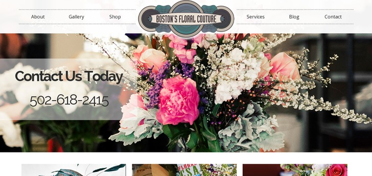 Boston S Floral Couture Website Has A Great Web Design