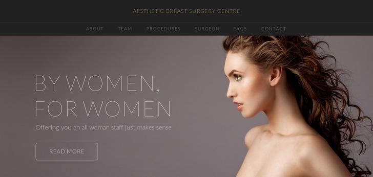 aesthetic breast surgery centre website has a great web design best web designs. Black Bedroom Furniture Sets. Home Design Ideas