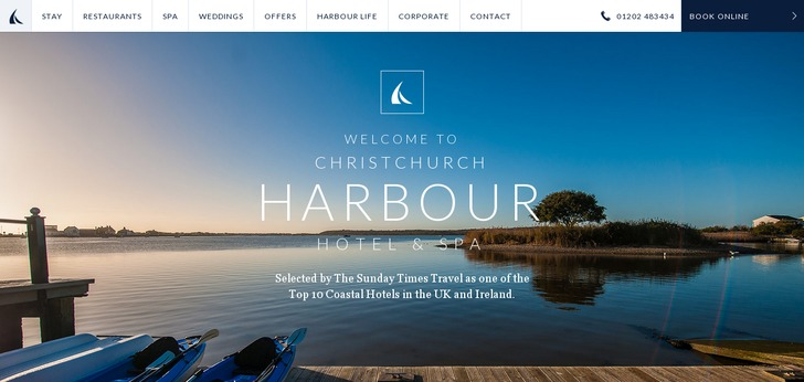Christchurch Harbour Hotel Spa Website Has A Great Web