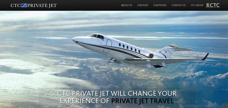 CTC Private Jet Website Has A Great Web Design  Best Web
