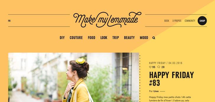 make my lemonade website has a great web design best web designs. Black Bedroom Furniture Sets. Home Design Ideas