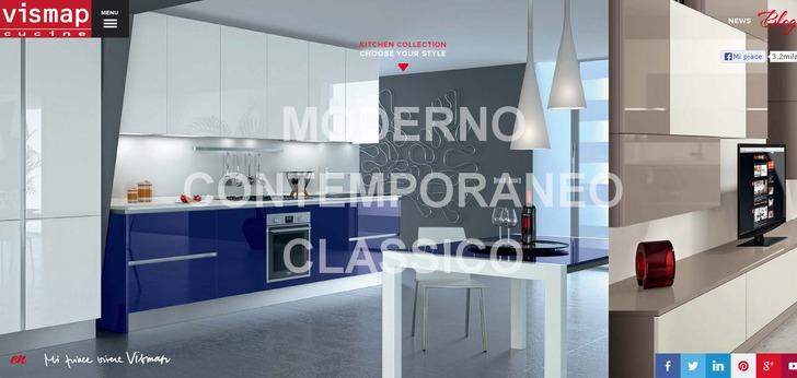 Vismap Cucine website has a Great Web Design  Best Web Designs