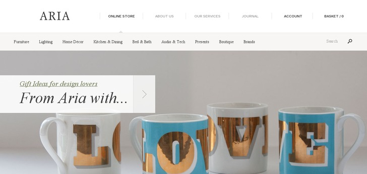 Contemporary furniture website has a great web design for Best furniture website design