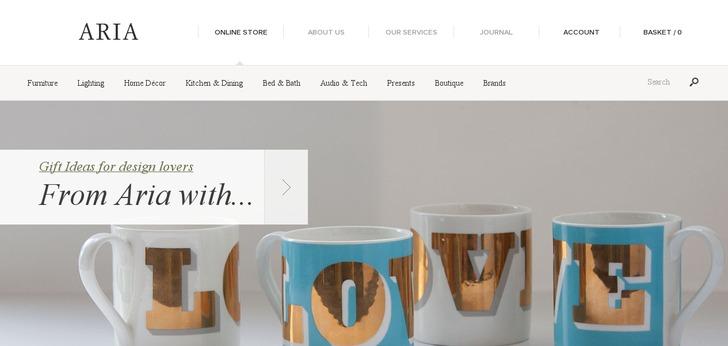 Contemporary furniture website has a great web design for Best modern furniture websites