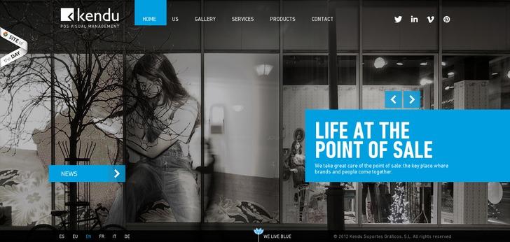 kendu website has a great web design