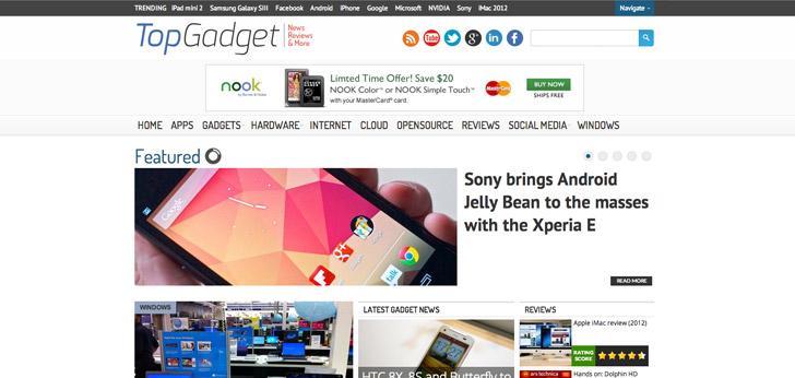 topgadget responsive wordpress theme for technology blogs gadget websites