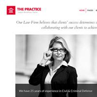 The Practice: responsive Wordpress Theme for attorneys and legal offices