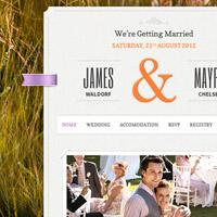 Just Married: responsive Wordpress theme for marriage