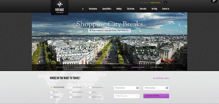 responsive Wordpress theme for online travel agency
